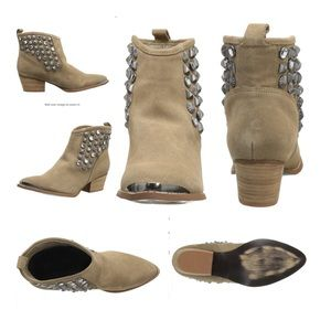 Chinese Laundry I Spy Tan Suede Embellished Bootie